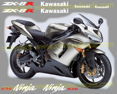 Kawasaki ZX-6R 636 2005 Decal Set All colours