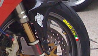 Italian Flag Below Ducati Decal