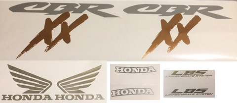 1998 Honda Blackbird Full decal set LBS