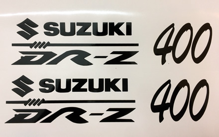Suzuki DRZ 400 Decal Pair