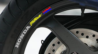 Honda Fireblade HRC Rim Decal set