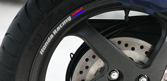 Honda Racing HRC Rim Decals