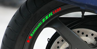 Kawasaki ZZR 1400 Rim Decal set