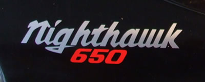 Honda Nighthawk 650 Decal
