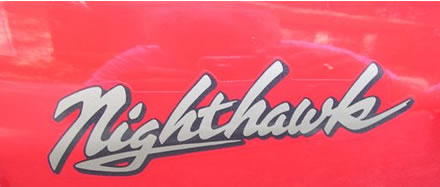 Nighthawk Decal - 1983 550 Honda Nighthawk