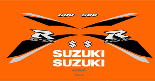 Suzuki K9 600 2009 Decal set